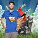 Camiseta Cara Angry Bird Azul
