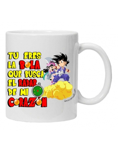 Taza Goku tu eres la bola que busca...