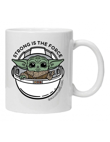 Taza Baby Yoda Strong is the force...