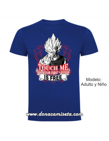 Camiseta Touch me and your first...