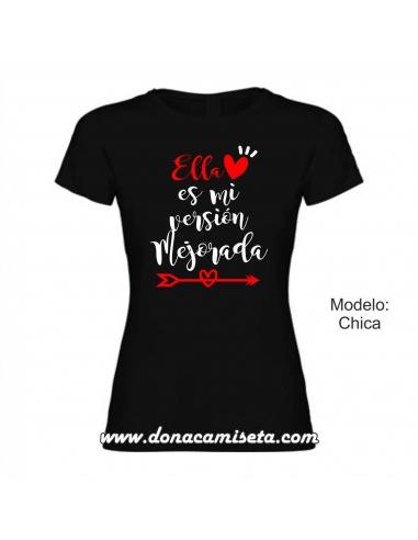 Camiseta Ella es mi versión mejorada