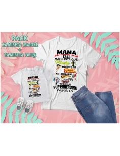 Pack Camisetas Mamá eres mi...
