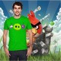 Camiseta Cara Cerdo Ojo Morado (Angry Birds)