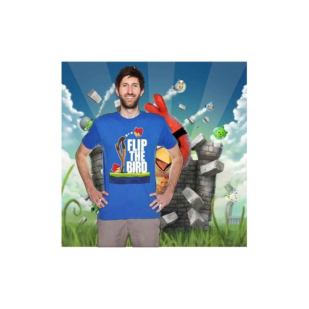 Camiseta MC Unisex Angry Tirachinas (Flip the Bird)
