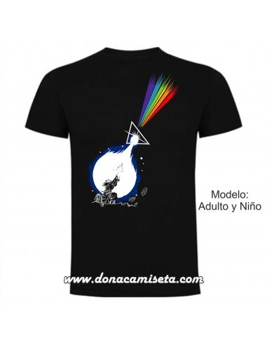 Camiseta Goku Onda arcoiris
