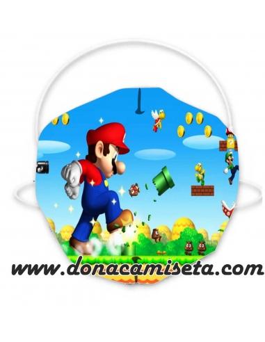 Mascarilla Niño y Adulto diseño Mario...