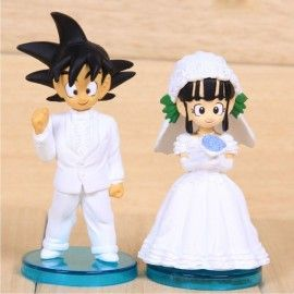 Figuras Goku y Chichi novios (Dragon Ball) 9cm