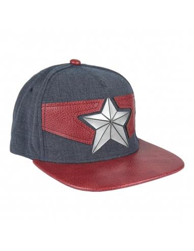 Gorra logo Capitán América 3d visera...