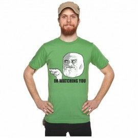 Camiseta MC Unisex Memes Watching You